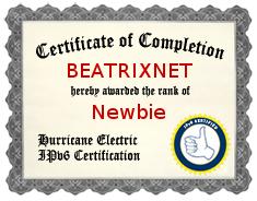 IPv6 Certificate